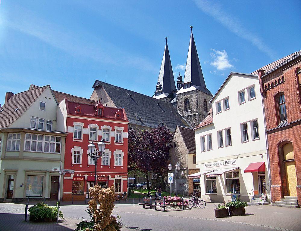 L'église protestante Saint-Etienne à Calbe, Allemagne