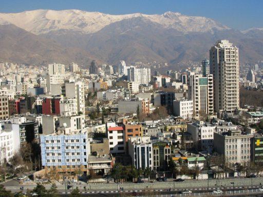 Vue de la ville de Téhéran