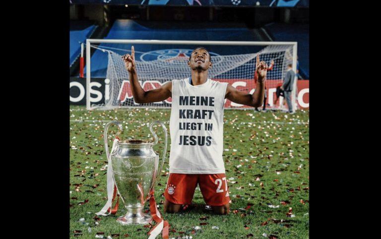 «Ma force réside en Jésus», affiche David Alaba vainqueur de la Ligue des Champions