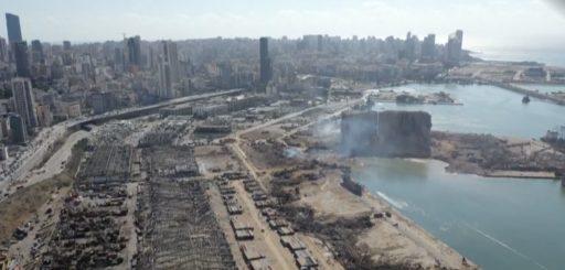 Le port de Beyrouth dévasté par l'explosion du 4 août 2020