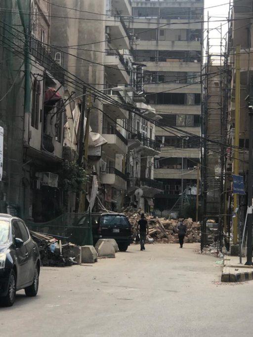 Quartier d'Achrafieh à Beyrouth en ruines après l'explosion du 4 août 2020