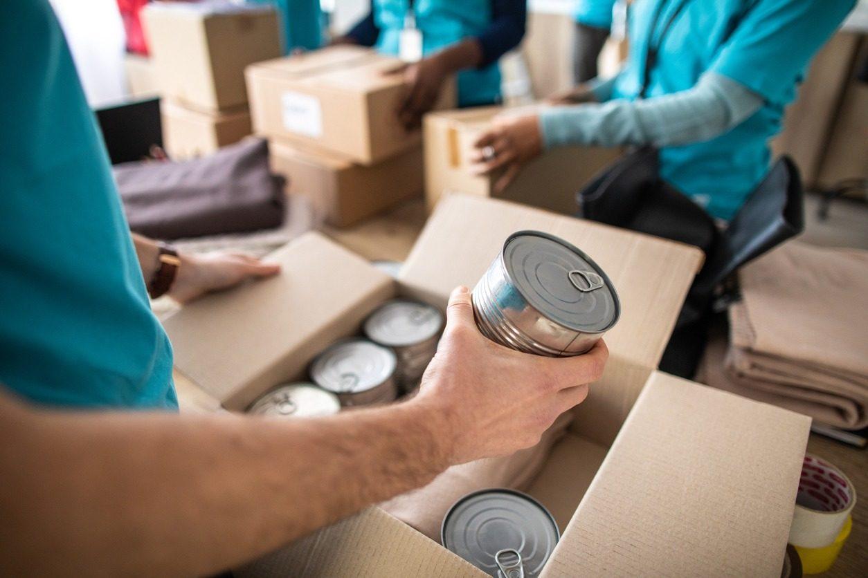 Distribution de denrées alimentaires