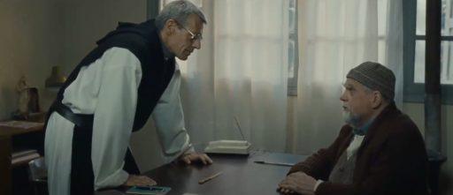 Lambert Wilson et Michael Lonsdale dans le film DES HOMMES ET DES DIEUX de Xavier Beauvois