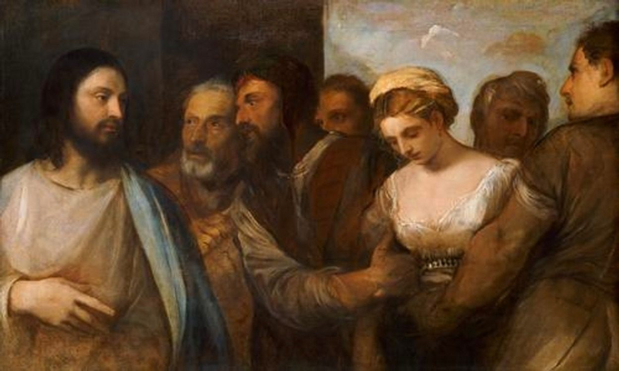 « Le Christ et la femme adultère», peint vers 1520 par Le Titien.