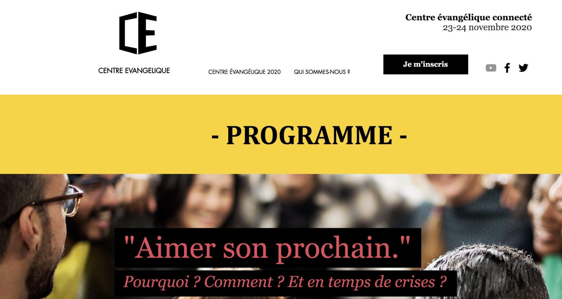 Site du centre évangélique édition 2020 sur l'amour du prochain