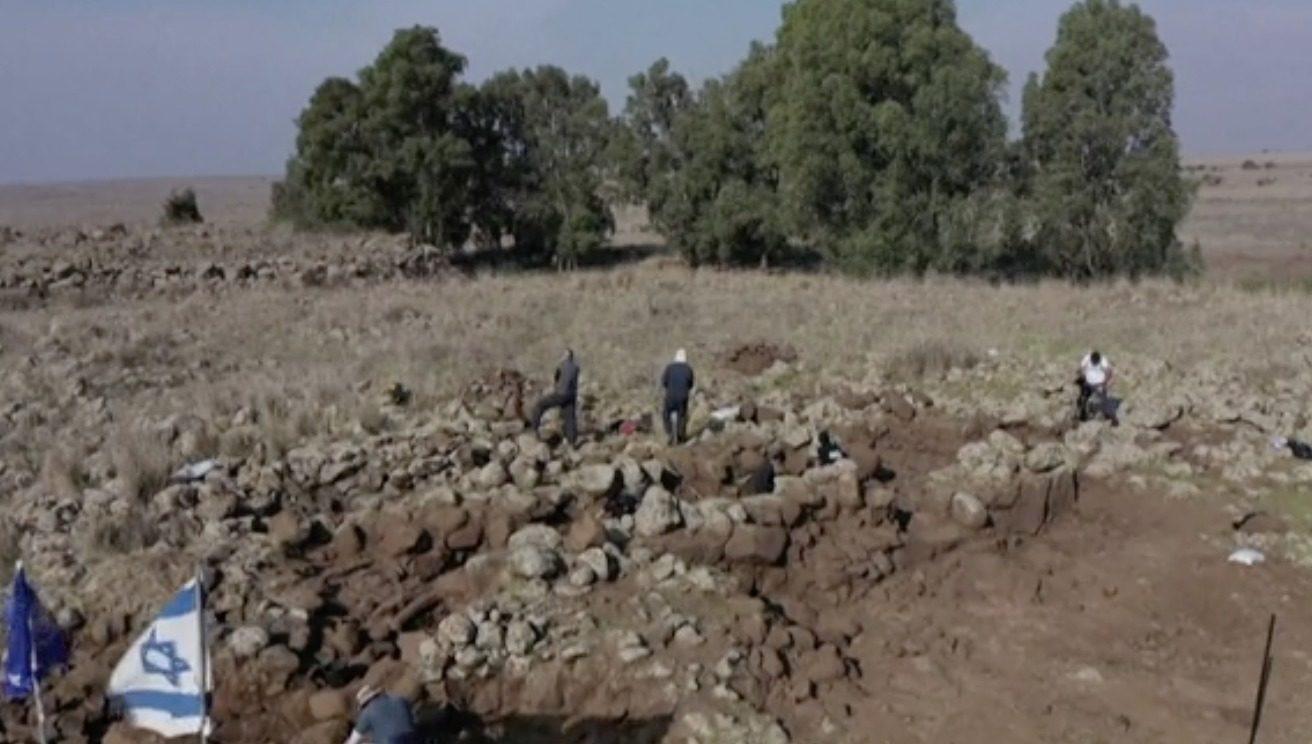 Fouilles archéologiques sur le plan du Golan en Israel découverte d'une forteresse datant du roi David