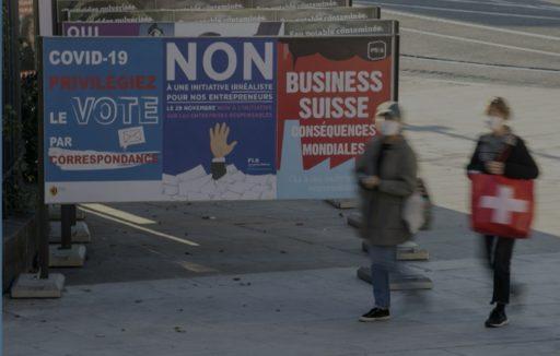 Affiches non contre votation multinationales responsables