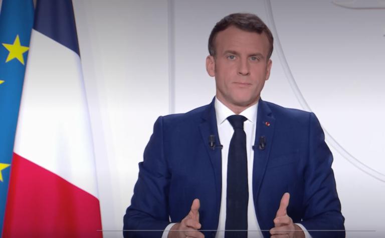 Emmanuel Macron lors de son allocution du 24 novembre