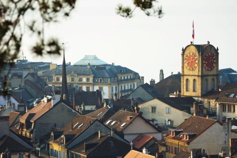 Vue sur la ville de Neuchâtel