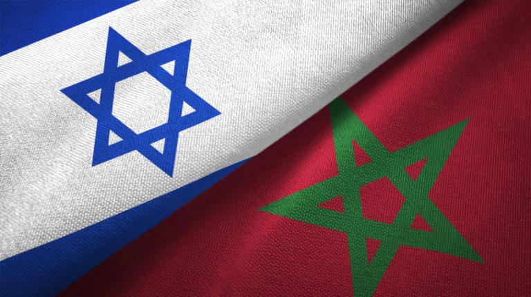 Drapeaux Israel Maroc