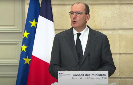 Jean Castex lors de la présentation du texte de loi «confortant les principes de la République»
