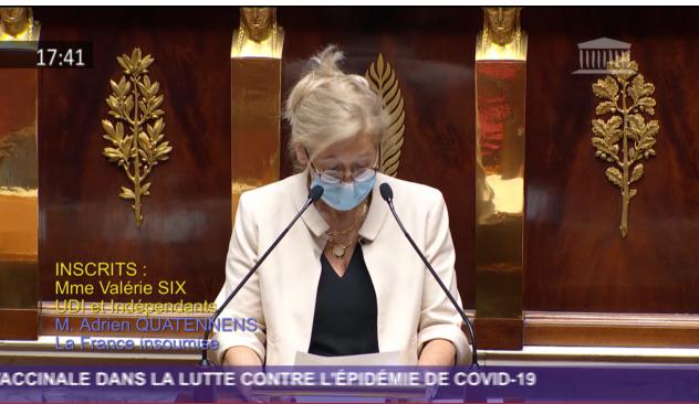 La député Valérie Six, le 16 décembre à l'Assemblée nationale.