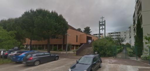 L'église catholique Saint-Paul dans le quartier de la Mosson à Montpellier