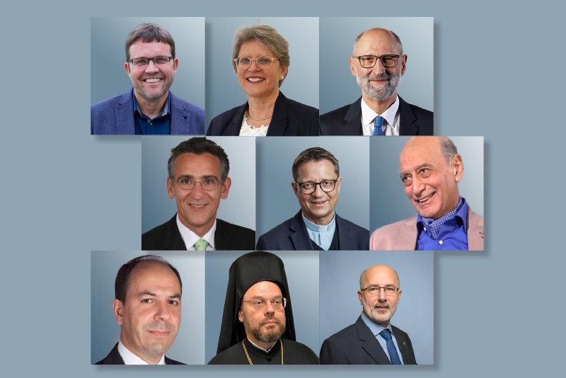 Les représentants du Conseil suisse des religions