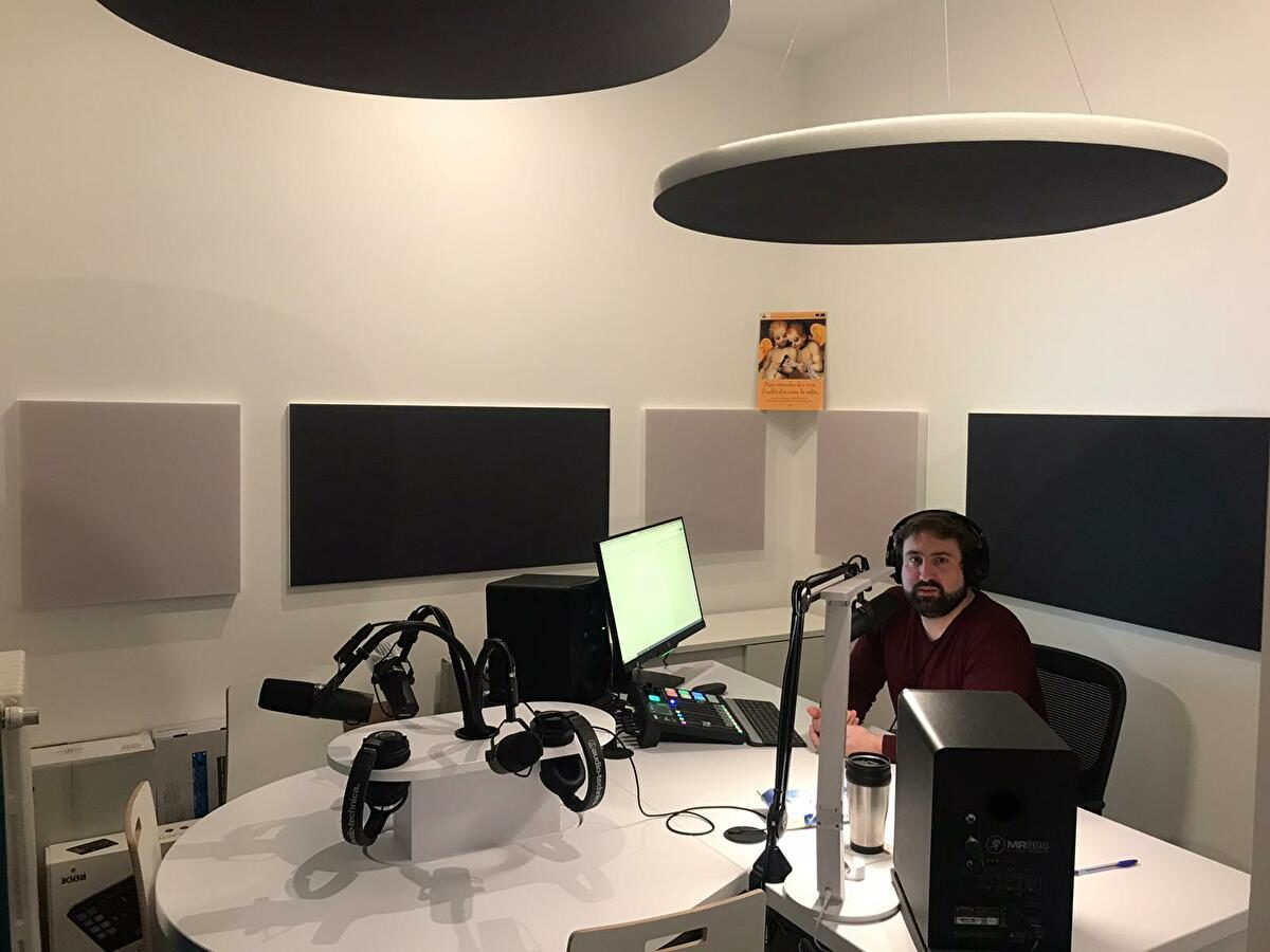 Benjamin Bories dans le nouveau studio de la FPF