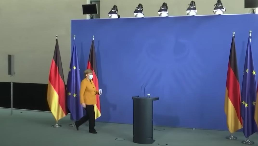 La chancelière allemande Angela Merkel le 24 mars 2021