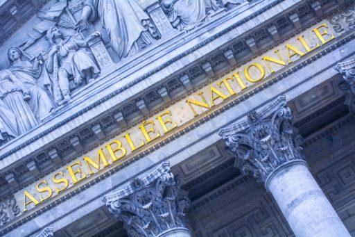 Façade néo-classique de l'Assemblée Nationale à Paris