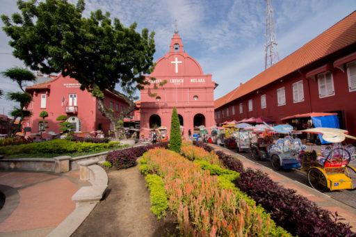 L'Eglise protestante Christ Church à Malacca, dans le sud-ouest de la Malaisie