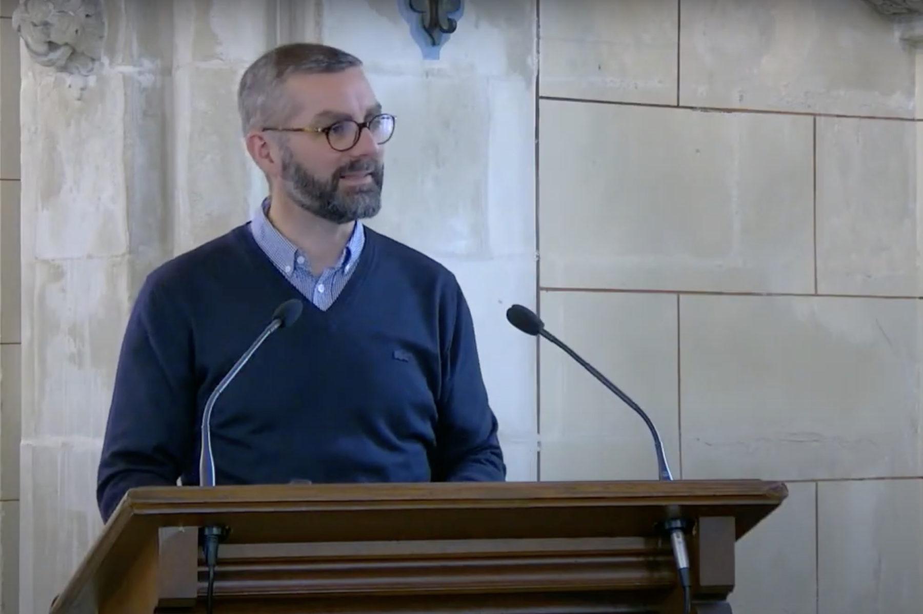 Nicolas Farelly pasteur de l'Eglise évangélique baptiste de Compiègne