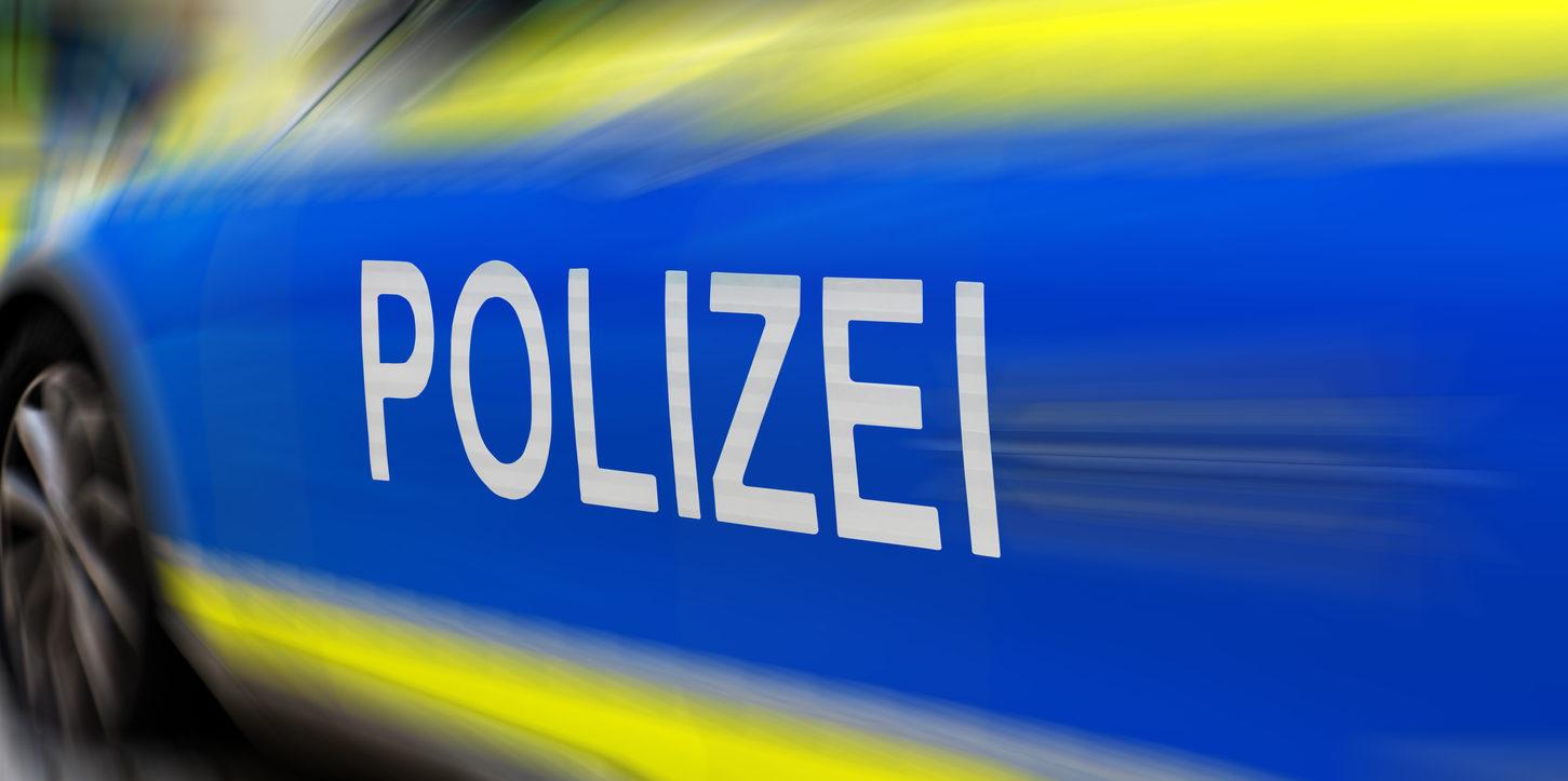 Polizei -Police- signe sur une voiture de police allemande