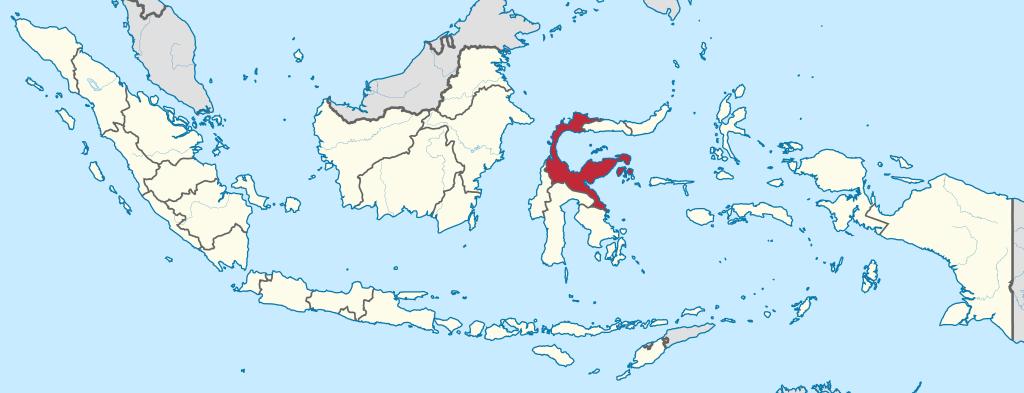 L'ile de Sulawesi en Indonésie