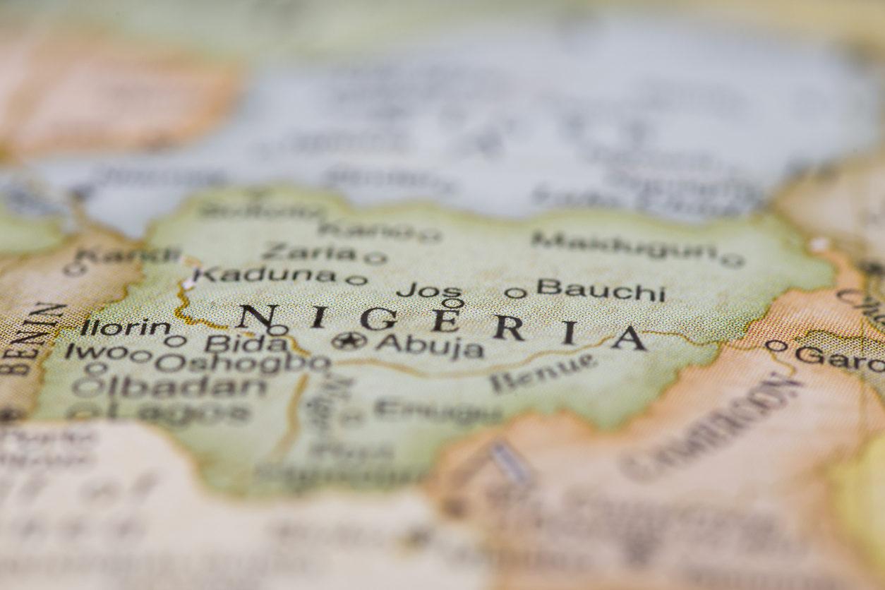 Carte du Nigeria
