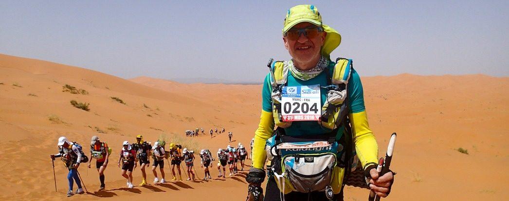 Marc Brunet lors du Marathon des Sables au Maroc en 2016