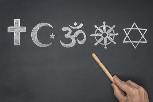 Les symboles des principales religions mondiales