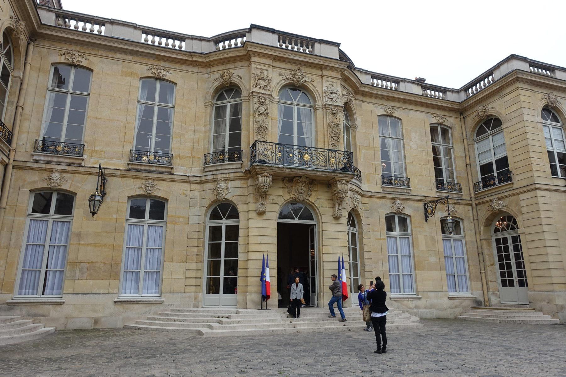 Hôtel Matignon résidence officielle et le lieu de travail du chef du gouvernement français
