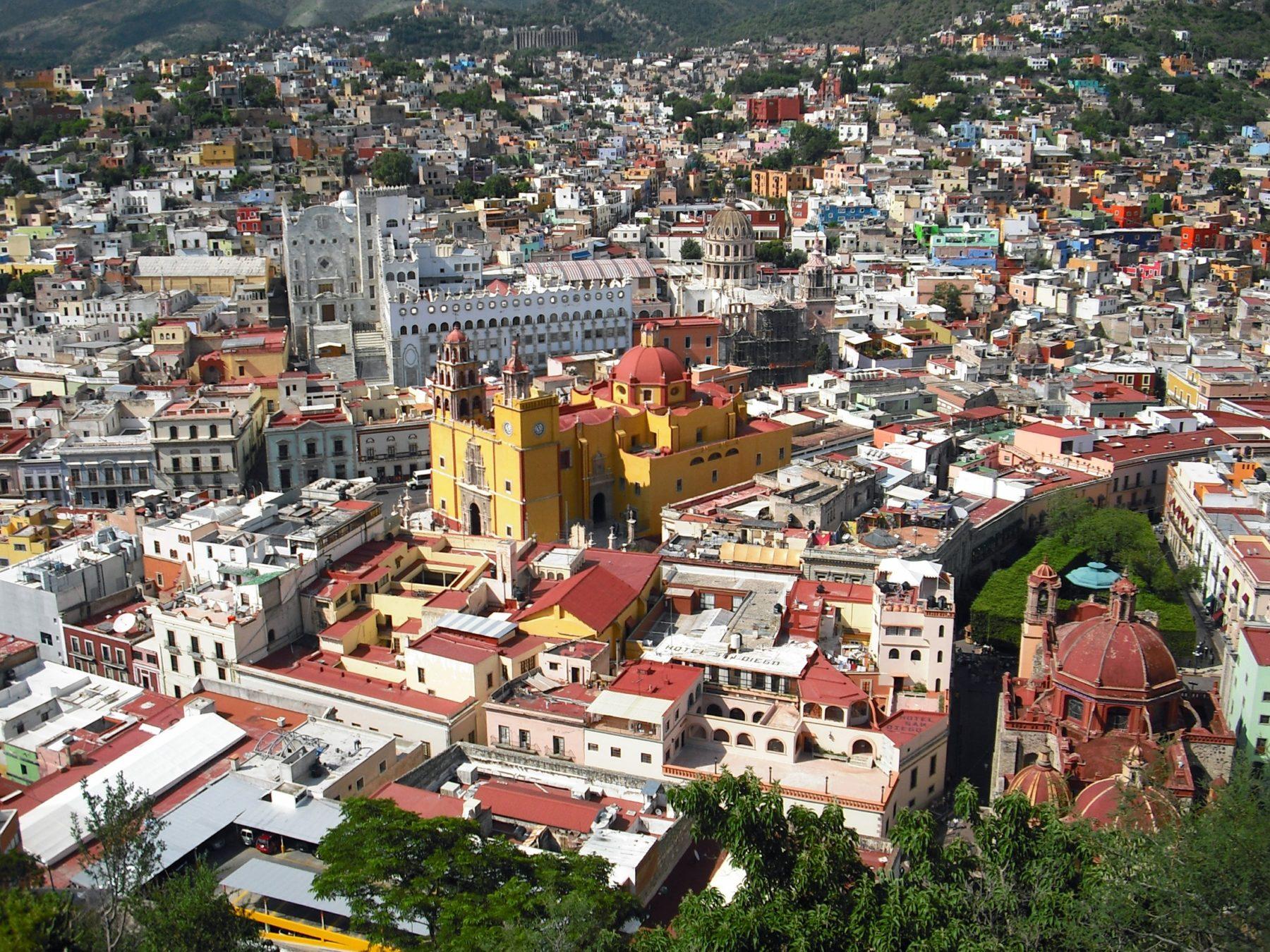 Vue aérienne d'une ville mexicaine