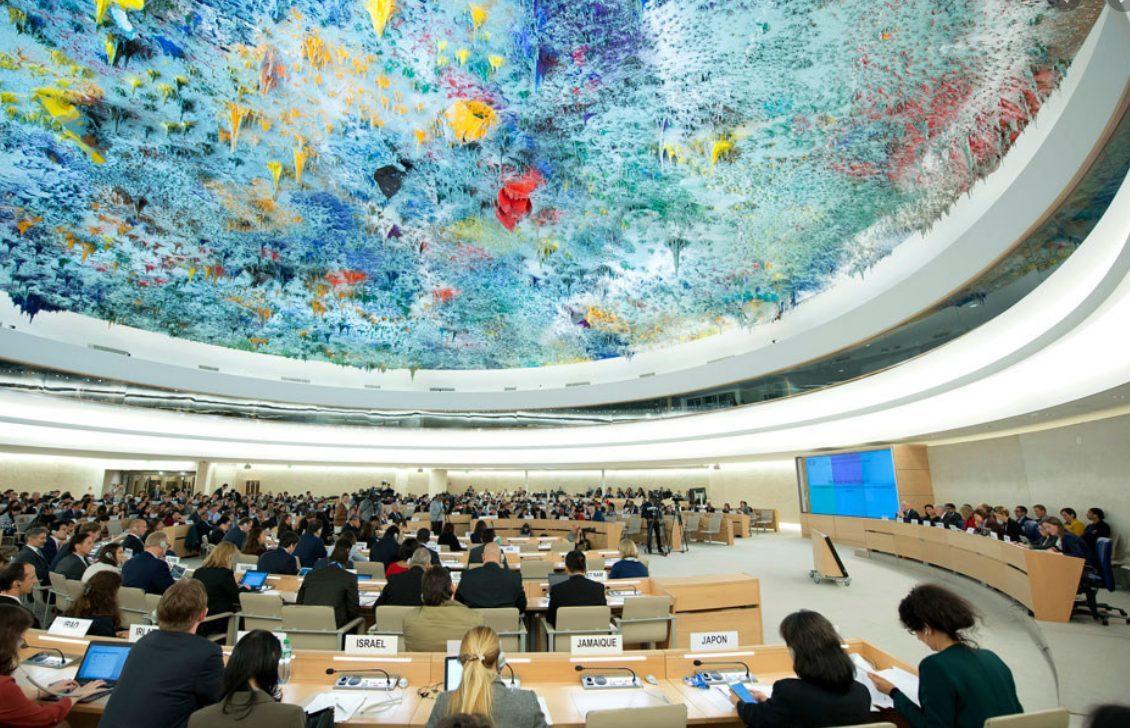 Vue de la salle du Conseil des droits de l'homme des Nations Unies