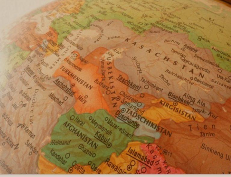 Globe terrestre zoom sur des pays du Moyen-Orient