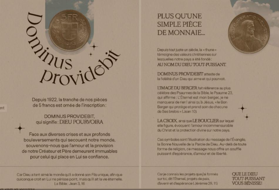 Flyer d'évangélisation de Decourroux Productions