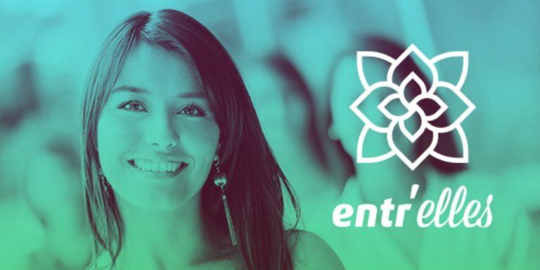Affiche de la rencontre Entr'Elles 2018, femme souriante