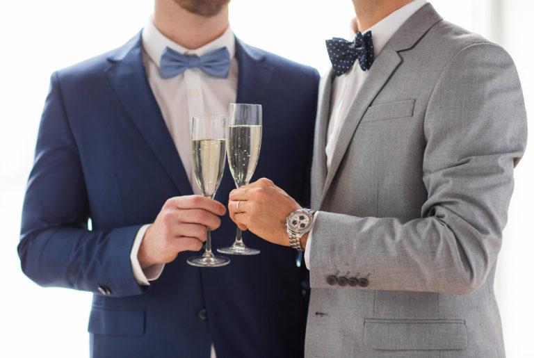 Couple d'hommes - Symbole mariage pour tous