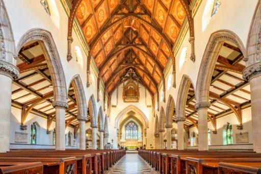 Intérieur lumineux de la cathédrale Christ Church à Montréal, Canada
