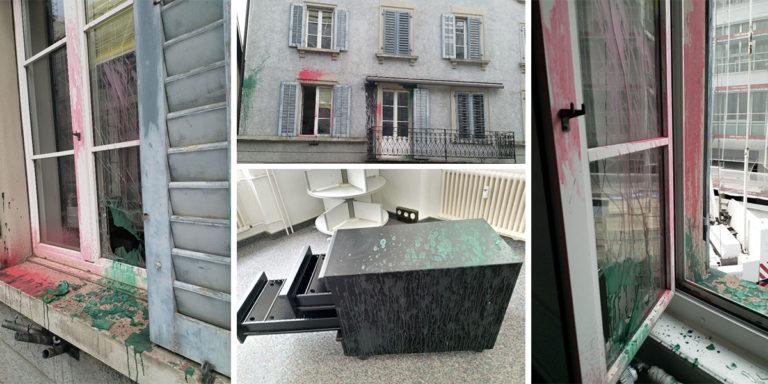 Zurich : Les locaux de l'Alliance évangélique suisse SEA vandalisés en marge de la Marche pour la vie