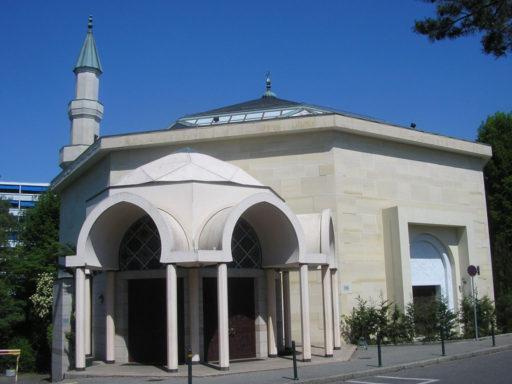 La mosquée de Genève, bâtiment blanc