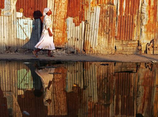 Scène de rue en Haiti